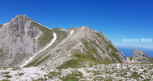 Towards the peak on Monte Camicia