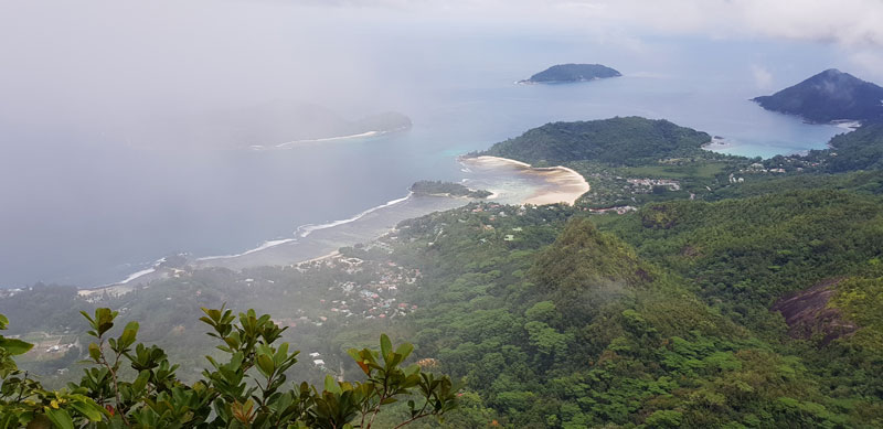 View from hilltop- Mahe Island