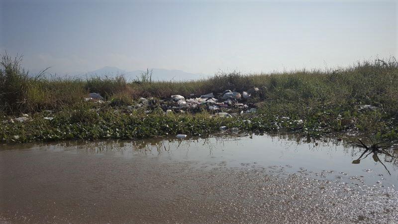Plastic pollution in Inle Lake, Myanmar