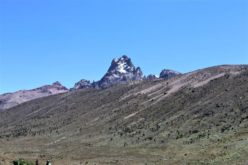 Mt. Kenya- diminishing snow