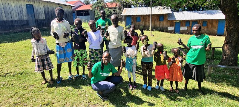 Tree growing exercise at Ngetmoi catholic