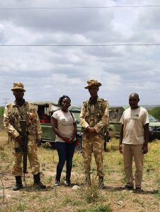 With KWS Wardens at the venue