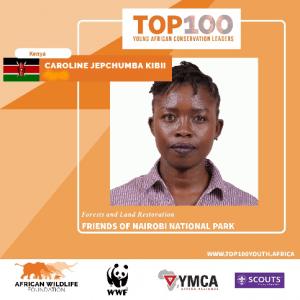 CAROLINE_JEPCHUMBA_KIBII-TOP100 Young African Conservation Leader